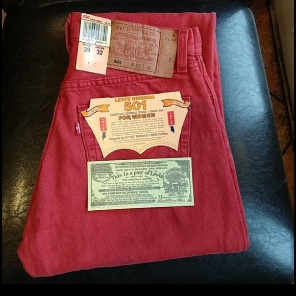 Levi's Denim - Vintage Red Buttonfly Levi's 501 Women
